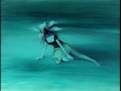 郑越《幻花》布面油画