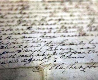 美国父华盛顿亲笔信再拍高价 321.85万美元成交