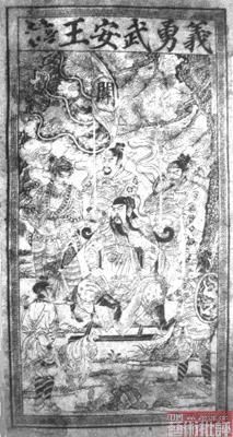 中国最早年画在那里?出自黑水城远居彼得堡