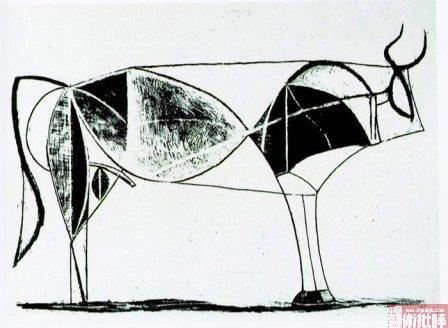 抽象减法的过程 牛年看毕加索画牛高清图片