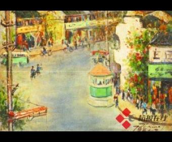 林达川笔下的杭州:结合印象派色彩和东方书写意味