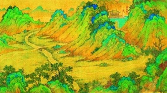 丝绸文化儿童绘画
