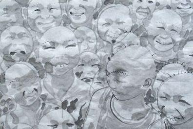 当代艺术家方力钧的水墨作品-水墨 政治与情感的共同需要