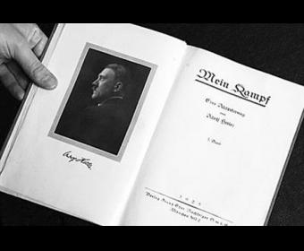 希特勒亲笔签名书籍将拍卖:底价2万美元