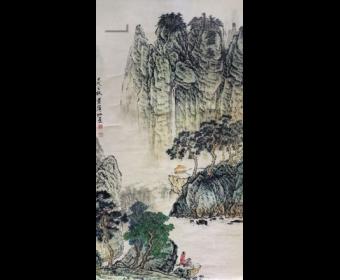 黄宾虹高山流水遇知音欣赏