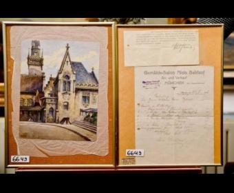 14幅希特勒画作公开拍卖 最高成交价超30万元