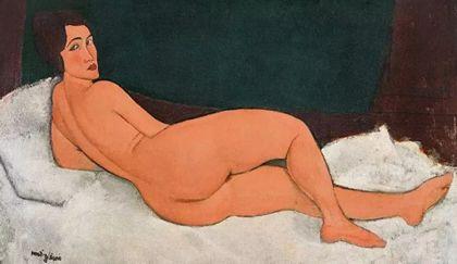 莫迪里安尼《向左侧卧的裸女》
