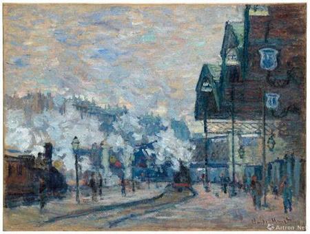 克劳德・莫奈 (1840-1926) 《圣拉扎尔车站外景》油彩 画布