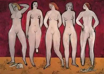 常玉《五裸女》,1950年