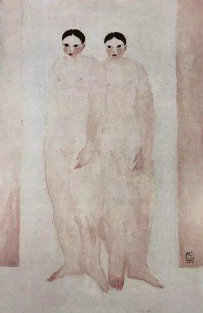 常玉《双裸女》,1929年