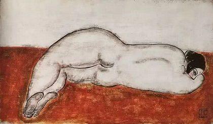 常玉《侧卧裸女》,1930年